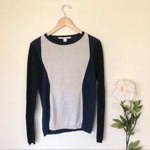 Diane Von Furstenberg   Wool Colorblock Sweater